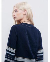 Free People - Blue Womens Sundown Mini Dress - Lyst