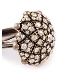 Lanvin | Metallic Round Shape Ring | Lyst