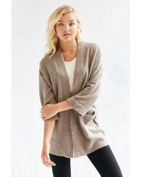 Silence + Noise | Brown Claire Cardigan | Lyst