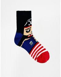 ASOS - Blue Pirate Ankle Socks - Lyst