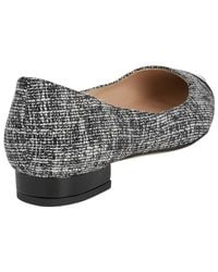 L.K.Bennett Gray Holly Flat Court Shoes