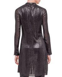 Akris - Black Sequined Velvet Long Car Coat - Lyst