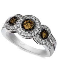 Le Vian | Diamond Chocolate Diamond White Diamond Three Stone (3/4 Ct. T.w.) In 14k White Gold | Lyst