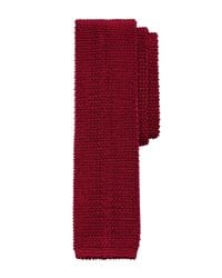 Brooks Brothers | Red Placed Double Stripe Knit Tie for Men | Lyst