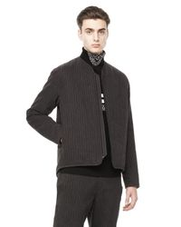 Alexander Wang Gray Quilted Liner Jacket for men