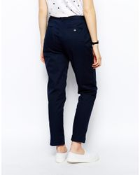 Fred Perry - Blue Chinos - Lyst