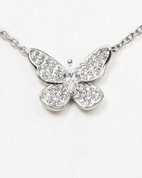 Nadri - Metallic Pave Butterfly Necklace 15 - Lyst