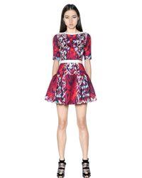 Peter Pilotto Blue Natalie Waffle Silk Dress