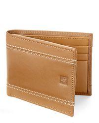 Original Penguin Brown Double Stitch Bi-Fold Wallet for men