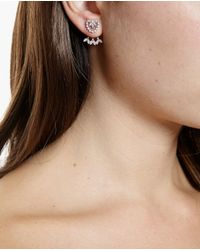 Yvonne Léon | Metallic 18K Gold And Diamond Foliage Stud Earring | Lyst