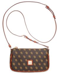 Dooney & Bourke | Brown Gretta Signature Lexi Crossbody | Lyst