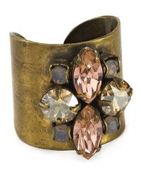Sorrelli | Metallic Flower Navette Ring | Lyst
