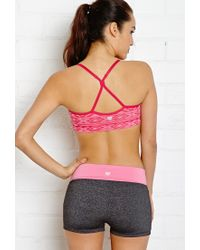 Forever 21 - Pink Low Impact - Tribal Print Sports Bra - Lyst