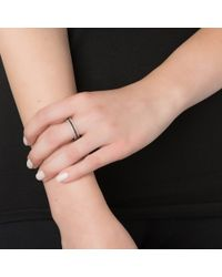 Alexa Leigh | Metallic Simple Leigh Pave Diamond Ring, Black Rhodium | Lyst