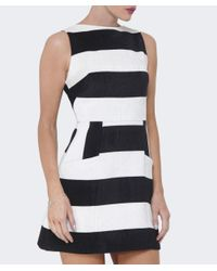 Alice + Olivia - Black Boat Neck Pocket Dress - Lyst