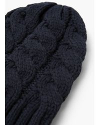 Mango | Blue Knit Beanie for Men | Lyst
