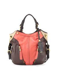 orYANY | Pink Victoria Colorblock Shoulder Bag Claymulti | Lyst