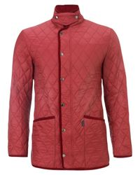 Aquascutum Red Pool Quilted Jacket for men