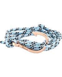 Miansai Blue Hook On Rope Bracelet for men