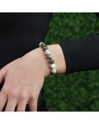 Monique Péan | White Spectrolite And Scrimshaw Bead Bracelet | Lyst