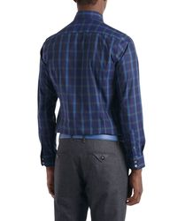 Ted Baker - Green Thepane Checked Shirt for Men - Lyst