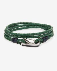 Ted Baker - Green Leather Wrap Around Bracelet for Men - Lyst
