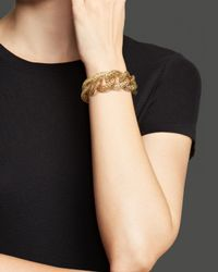 Roberto Coin | Metallic 18K Yellow Gold Plated Sterling Silver Skyline Link Bracelet | Lyst