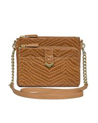 Jack Rogers | Brown Celeste Small Crossbody Weave | Lyst
