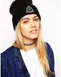 ASOS Black 90S Tattoo Choker Necklace With Faux Pearl
