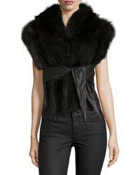 Rick Owens | Black Sleeveless Jacket | Lyst