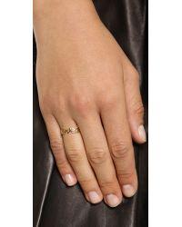 Kacey K - Metallic Loved Ring - Gold - Lyst