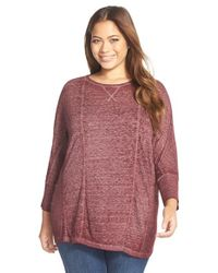 Lucky Brand | Purple Long Sleeve Top | Lyst