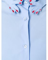 Vivetta | Blue Cut-out Hand Collar Shirt | Lyst