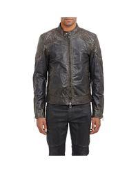 Belstaff Black Men's Outlaw Leather Jacket for men