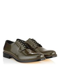 Jimmy Choo Metallic 'alaric' Polka Dot Patent Leather Derbies for men