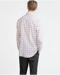 Zara | Purple Check Shirt for Men | Lyst