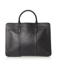 Ted Baker | Black Woven Leather Document Bag for Men | Lyst