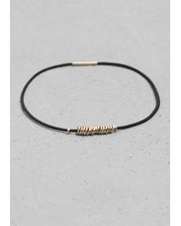 & Other Stories | Black Elastic Bracelets | Lyst