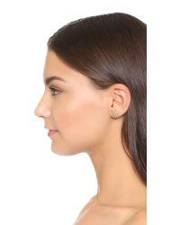 Holly Dyment Mini Evil Eye Stud Earring - Green