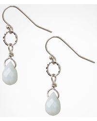 Express - Metallic Semiprecious Stone Mini Teardrop Earrings - Lyst