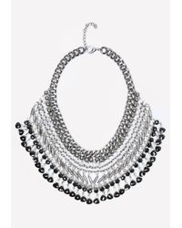 Bebe | Metallic Beaded Bib Necklace | Lyst