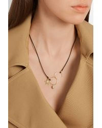 Inez & Vinoodh - Metallic Leather, 18-Karat Gold And Pearl Necklace - Lyst