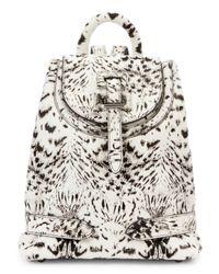 meli melo Black Mini Printed Calf Hair Backpack