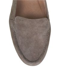 Easy Spirit | Gray Jeyden Animal-spot Suede Loafers | Lyst
