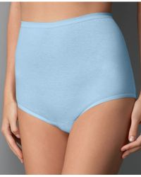 Vanity Fair | Blue Plus Sizes Perfectly Yours Cotton Classic Tailored 15318 | Lyst