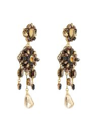 Erickson Beamon | Metallic Marchesa Crystal & Gold-Plated Earrings | Lyst