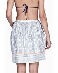 lemlem | Gray Border Skirt | Lyst