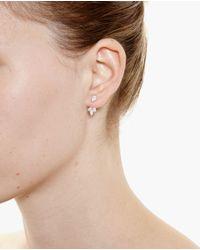 Yvonne Léon Metallic 18K Gold And Triple Pear Diamond Lobe Earrings