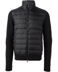 Moncler - Black Knitted Jacket for Men - Lyst