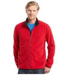 Izod | Red Full-zip Jacket for Men | Lyst